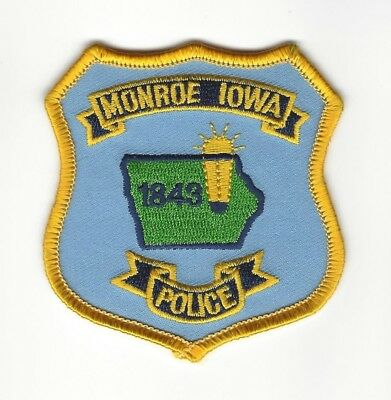 Monroe (Jasper County) IA Iowa Police patch - NEW!
