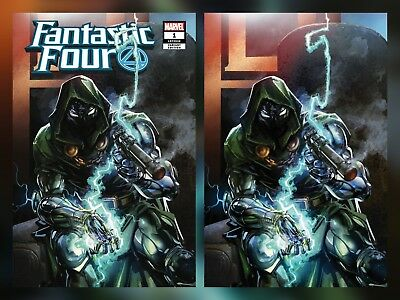 Fantastic Four 1 Virgin Variant Set Dr Doom Clayton Crain Exclusive Ff Pre-Sale