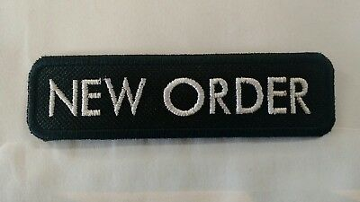 NEW ORDER Band Patch IRON/SEW ON Embroidered The Cure Joy Division Depeche Mode