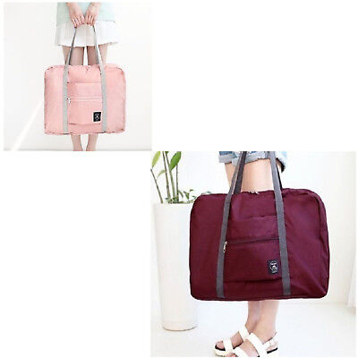 Carrying Bag Portable Travel Storage Luggage Clothes Foldable Hand Shoulder Bag