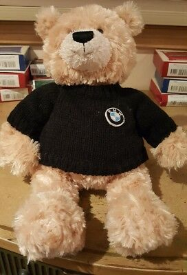 Gund BMW Plush Honey Bear Black Sweater Stuffed Animal