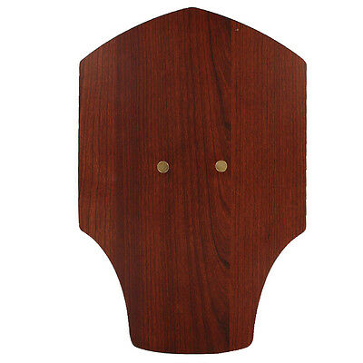 Beautiful Cherry Wood Grain Medieval Sword Knife Holder Wall Display Plaque