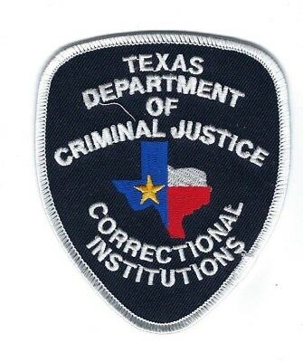 TX Texas Dept. Criminal Justice Correctional Institutions patch - NEW!