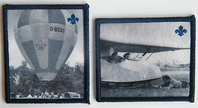 SCOUTS IN THE AIR, 2 Heritage Scouting Badges, Air Scouts & Hot Air Ballooning
