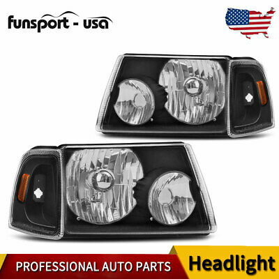 For 08 09 10 Ford F250 F350 F450 Super Duty Headlight Assembly Black Housing US