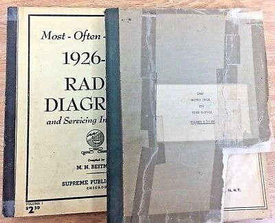 Rider Manuals 1947 Index 1-15 and Beitman 1926-38 Most Often Needed Diagrams