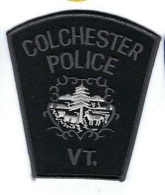 Colchester (Chittenden County) VT Vermont Police SWAT Subdued patch - NEW!