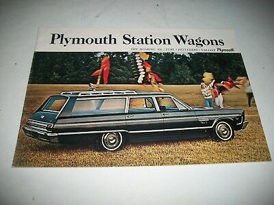 1965 Plymouth Station Wagons Sales Brochure Fury Belvedere Valiant