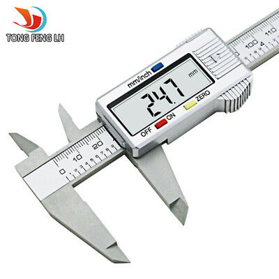 6inch LCD 150mm Digital Electronic Carbon Fiber Vernier Caliper Gauge Micrometer