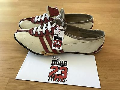 Vintage Running shoes track spikes KARHU Adidas 1950 Olympic Games World Record