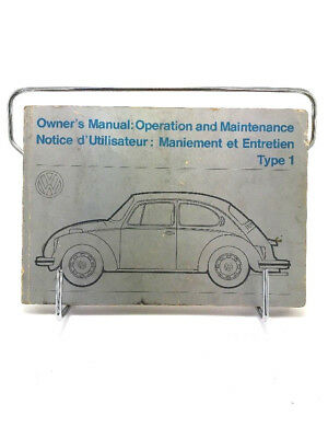1973 Volkswagen Beetle Bug Type 1 Kafer Owners Manual Canada Automobile Car