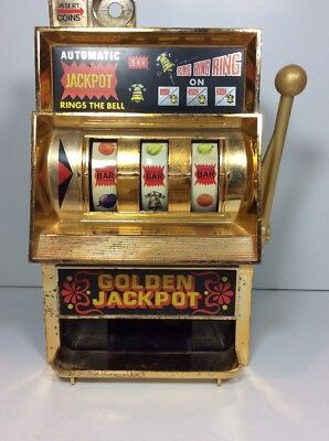 "Waco Golden Jackpot Rings The Bell Bar Slot Machine Japan Win 10.5"" Tall Works"
