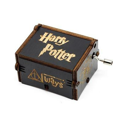 NEW Harry Potter Music Box Engraved Wooden Music Box Interesting Craft Gift Toys