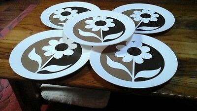 Set of Vintage Melamine Dishes:  8 Dinner and 8 Salad Plates: Flower Power!