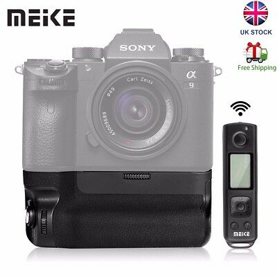 Meike MK-A9 Pro Vertical Battery Grip 2.4G Remote Control for Sony A9 A7RIII UK