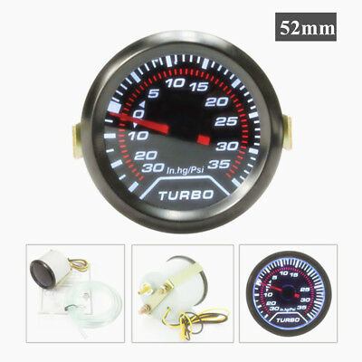 12V Universal 2″ 52mm Smoke Len Car Auto Turbo Boost Gauge Meter Kit 35 Psi