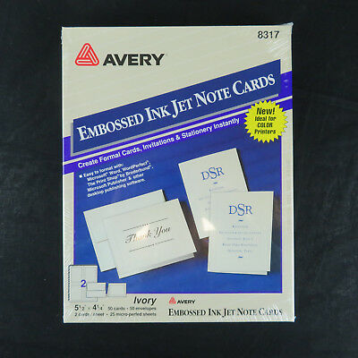 avery 8317 matte ivory embossed 60 note cards w envelopes 24 99