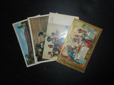 4 Early African American Picture Postal Cards