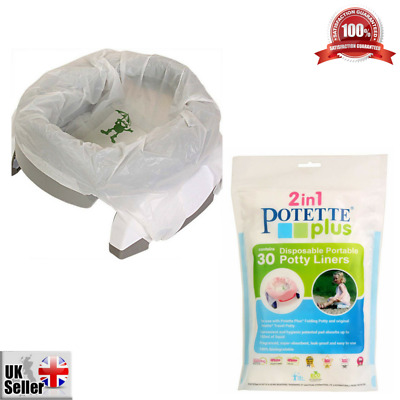 30 x Disposable Potty Liners Travel Pack Potette Plus Leak Proof Super Absorbent