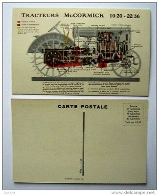 "1931 Rare Cpa Publicitaire  ""mc Cormick"" ,tracteur,agriculture,farine,"
