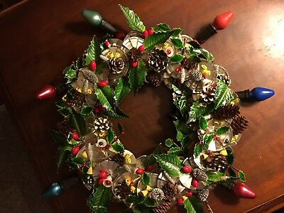 1930's or 40's****Electric***Vintage****Christmas Wreath******