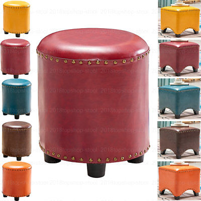 Large Ottoman Pouffe Footstool Dressing Table Makeup Seat Stool  Faux Leather