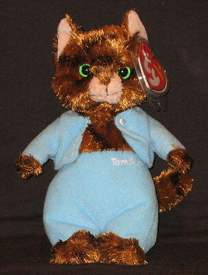 Ty Tom Kitten  (White Letters) Beanie Baby - Uk Exclusive - Mint Tags