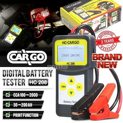 New HC CARGO HC208 ABS 12V 24V Starting Charging Test Car Digital Battery Tester