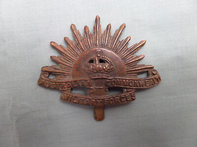 Original WW1 Brass Rising Sun Slider Australian Army Hat Badge