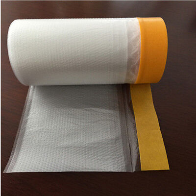 20M Adhesive Masking Film Tape Poly Surface Painting Protection Cover
