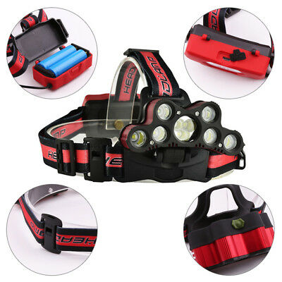 XM-L T6 LED Rechargeable Headlamp Camping Hiking Flashlight Outdoor Work Lamp AU