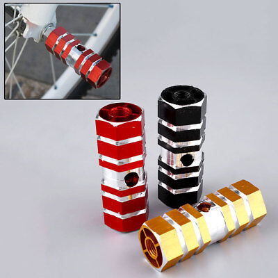 AE9E 2X Pair BMX Axle Pedal Alloy Foot Stunt Pegs Cylinder Non-Slip For Bike