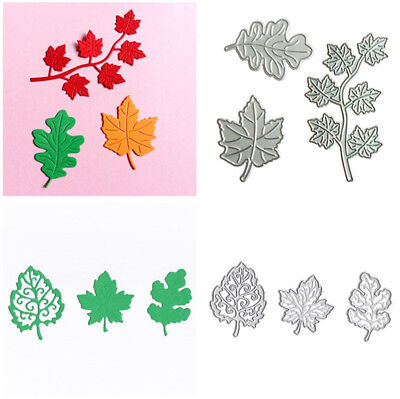 3pcs/set Maple Leaves Metal Cutting Dies Stencil Scrapbooking Paper Card Craft