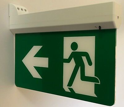 LED Emergency Exit Sign / Recessed / Wall Mounted / Hanging + 4 Options