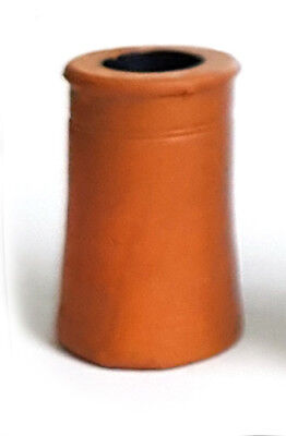 TD01 small round chimney pot 3d printed 1/24th scale model railway or doll house