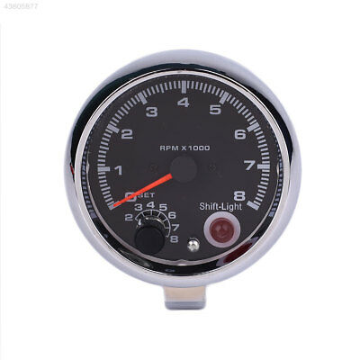 12V Car Vehicle Tachometer Tacho Gauge With Shift Light 0-8000 RPM Shockproof