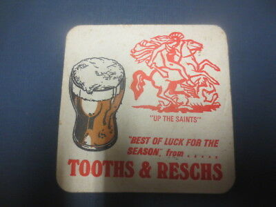 1 only St.George,Leagues Club / Tooth & Reschs Brewery 1974 BEER Coasters,