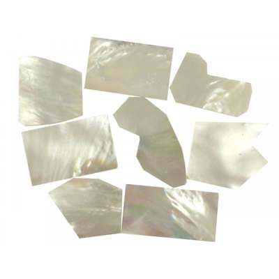 Incudo White Mother of Pearl Shell Inlay Pieces - 25g Small-Medium