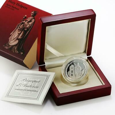 Catherine Andorra Holy Helpers 2010 St 10 dinars silver Proof coin