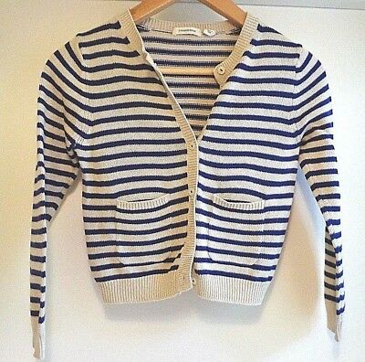 Country Road Cotton Striped Girls Cardigan, Size 7 Perfect condition.