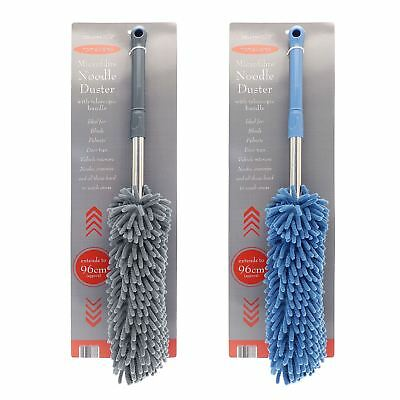 Country Club Microfibre Noodle Duster Telescopic Handle Easy Wash Extends 96cm