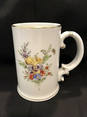 Hochst Pansy Hand-Painted Porcelain Mug Made In Germany New