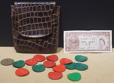 Vintage lot of Missouri sales tax tokens, both red & green
