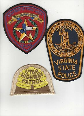 3 Highway Patrol Police Patches
