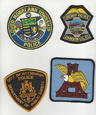 Traders Set of 4 Police Patches