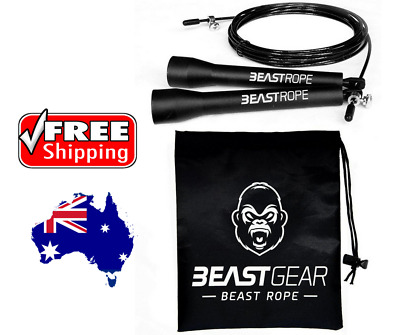 Speed Skipping Rope Beast Gear Fitness Conditioning Fat Loss Crossfit MMA Boxing