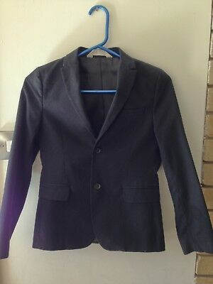 Boys black suit jacket size 10-11 years