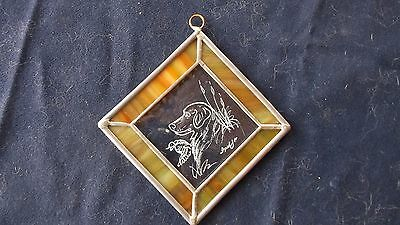 FLAT COATED RETRIEVER-  Hand Engraved Ornament by Ingrid Jonsson