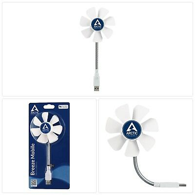 Arctic Breeze Mobile - 92 mm USB-Ventilator mit flexiblem Hals I tolle Kühlleis