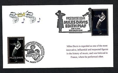 Miles Davis 4693 first day cover with combo France stamp ACE cachet